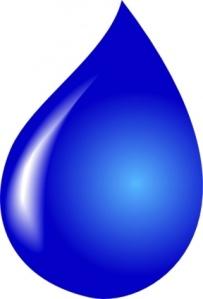 blue tear drop