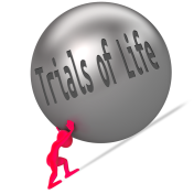 redman pushing trials of life ball uphill